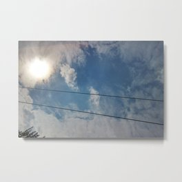 clouds and wire, abstract, no.04 Metal Print
