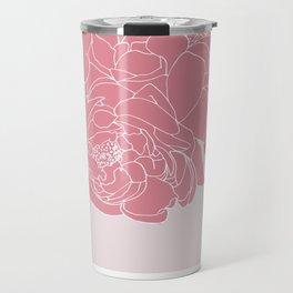 Floral Pinks Travel Mug