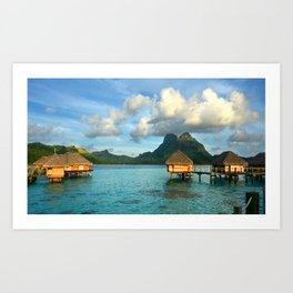 Bora Bora Tahiti Bungalow Art Print