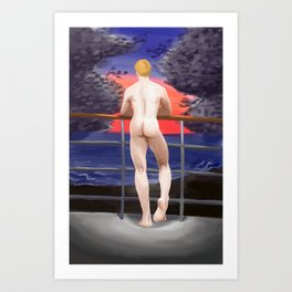 Sun and Mooned Art Print