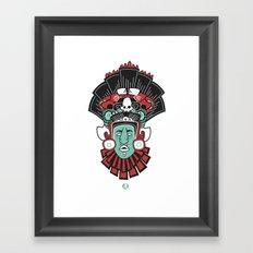 Mayan Head Framed Art Print