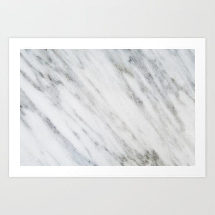 Carrara Italian Marble Art Print