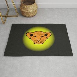 lion cub drawn. lion cub drawn from human gaze Rug