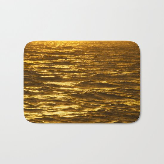 Gold Ocean Bath Mat
