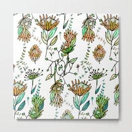 Protea Flower Orange #homedecor Metal Print