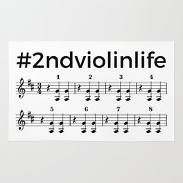 #2ndviolinlife Rug