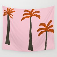 palms Wall Tapestries featuring Palms by Georgiana Paraschiv