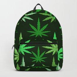 Marijuana Green Leaves Weed Backpack