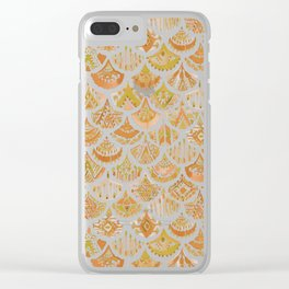 AZTEC MERMAID Golden Tribal Scales Clear iPhone Case