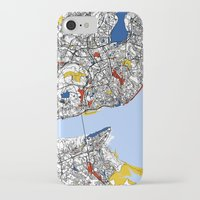 mondrian iPhone & iPod Cases featuring Lisbon mondrian by Mondrian Maps