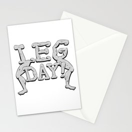 LEG DAY! Stationery Cards