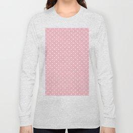 Dots (White/Pink) Long Sleeve T-shirt