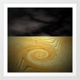 Swirling sands Art Print