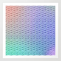 Rainbow Mermaid Scales 2 Art Print