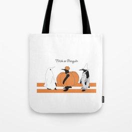 Funny Penguin Halloween Tote Bag