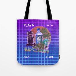 Vaporwave Fiji Bottle Tote Bag