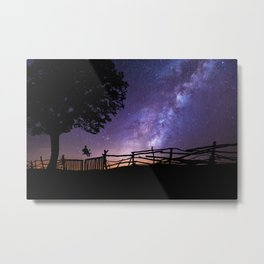 Childhood Dreams of the Milky Way lonely night color photography / photographs Metal Print