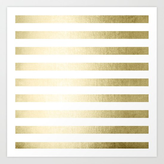 Simply Striped Gilded Palace Gold Art Print