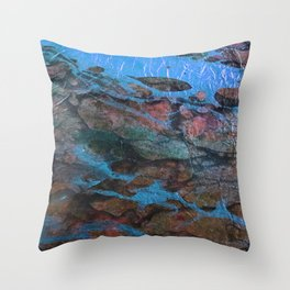 The Painter's Brush :: Corrupted Ocean Throw Pillow