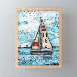 Discovery Sail Boat Framed Mini Art Print