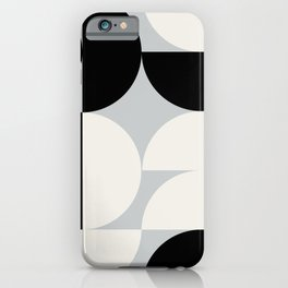 Abstraction_NEW_SHAPE_BLACK_WHITE_POP_ART_0905A iPhone Case