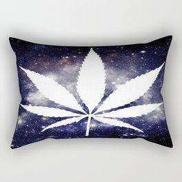 Weed : High Times Navy Blue Galaxy Rectangular Pillow