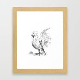 The Chicken Groomers Framed Art Print