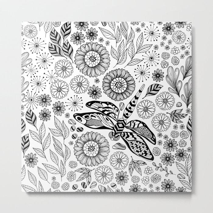 Dragonfly garden Metal Print