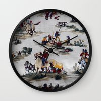 western Wall Clocks featuring Western  by Kim-maree Clark