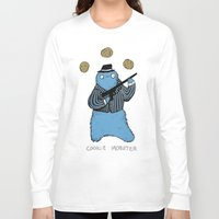 cookie monster Long Sleeve T-shirts featuring Cookie Mobster by Sophie Corrigan
