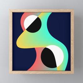 Abstract Lava Lamp and Circles Modern Gradient Design Framed Mini Art Print