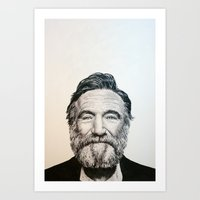 robin williams Art Prints featuring Robin Williams by feralsister