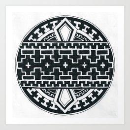 Geometric like mandala thing Art Print