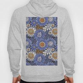 Floral doodles in blue Hoody