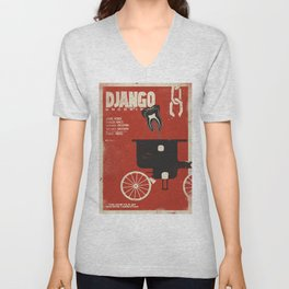 Django Unchained, Quentin Tarantino, alternative movie poster, Leonardo DiCaprio, Jamie Foxx Unisex V-Neck