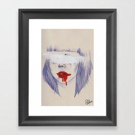 Damaged hearts Framed Art Print