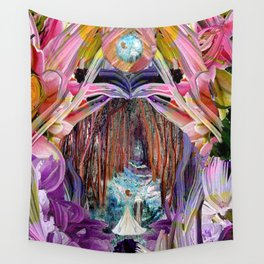 Fairy and Unicorn, Fantasy Forest Wall Tapestry