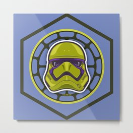 First Order TMNT Stormtrooper - Donatello Metal Print