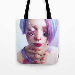 Starry Eyed Girl Tote Bag