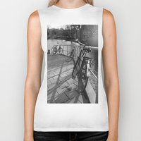 bicycles Biker Tanks featuring bicycles near the canal by habish