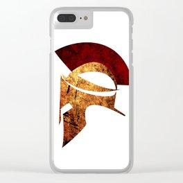 Spartan warrior Clear iPhone Case