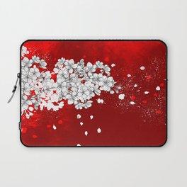 Red skies and white sakuras Laptop Sleeve