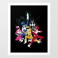 power glove rangers Art Print
