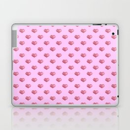 Pretty in Pink. Ticking pink hearts. Laptop & iPad Skin