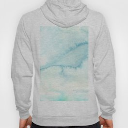 Abstract hand painted blue teal watercolor paint pattern Hoody