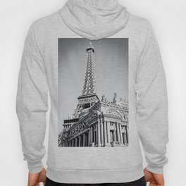 Eiffel tower at Las Vegas, USA in black and white Hoody
