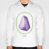 crystal Hoodies featuring Crystal by Nuria Muro