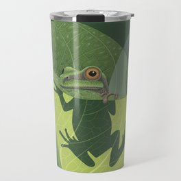 Pacific Tree Frog in Skunk Cabbage Travel Mug
