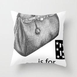 B is for Birkin Throw Pillow