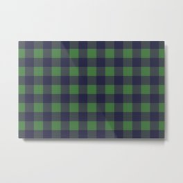 Blue And Green Lumberjack Metal Print